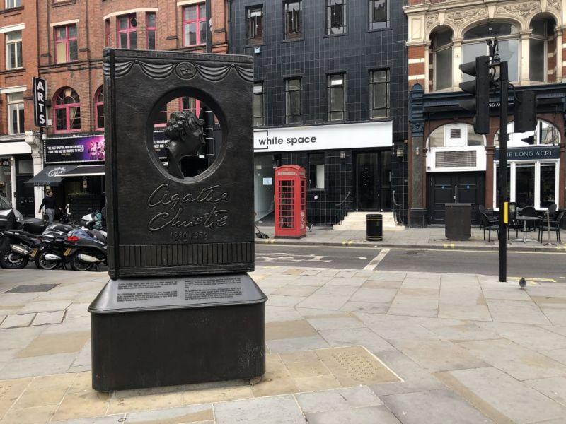 Agatha Christie memorial statue, Leicester Square