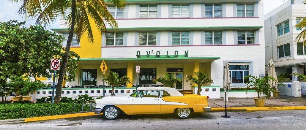 Art Deco District in Miami Beach mit vielen schnen Gebuden