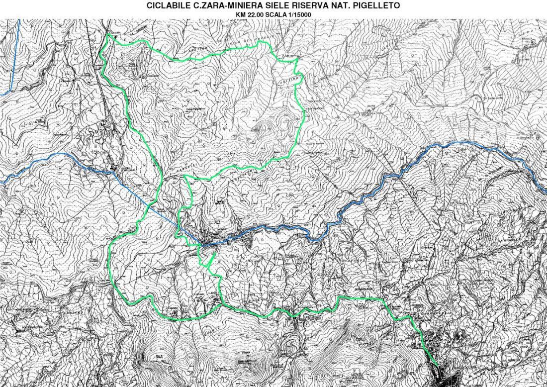 Percorso Ciclabile Castell'Azzara, Miniera del Siele, Riserva naturale del Pigelletto (km 22)