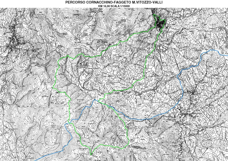 Percorso Ciclabile Castell'Azzara, Cornacchino, Roccaccia, M.V. Valli (km 16)