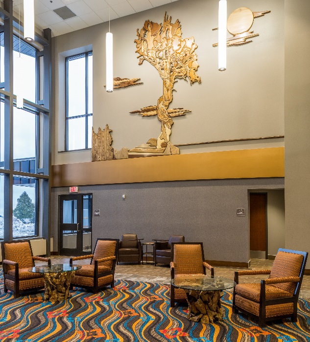 Photo: Lobby at Grand Portage Lodge and Casino