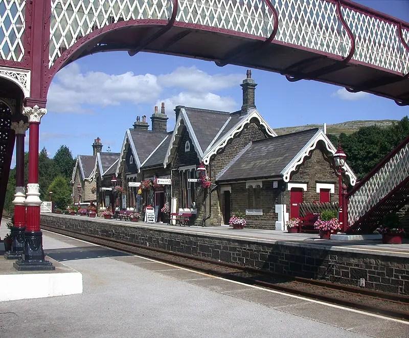 Settle railway station on the Settle to Carlisle line