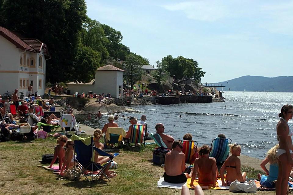 Badeparken: Very central and very popular. Photo: Pål Mørk.