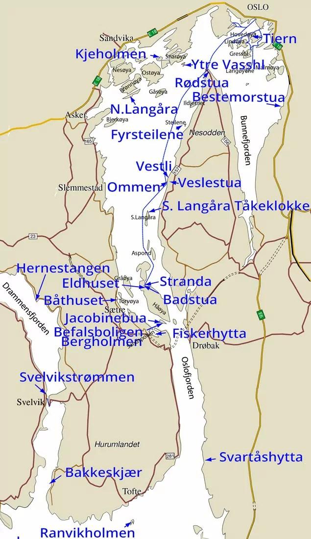 hurumlandet kart Kystled Oslofjorden: Overnatting og båt hurumlandet kart