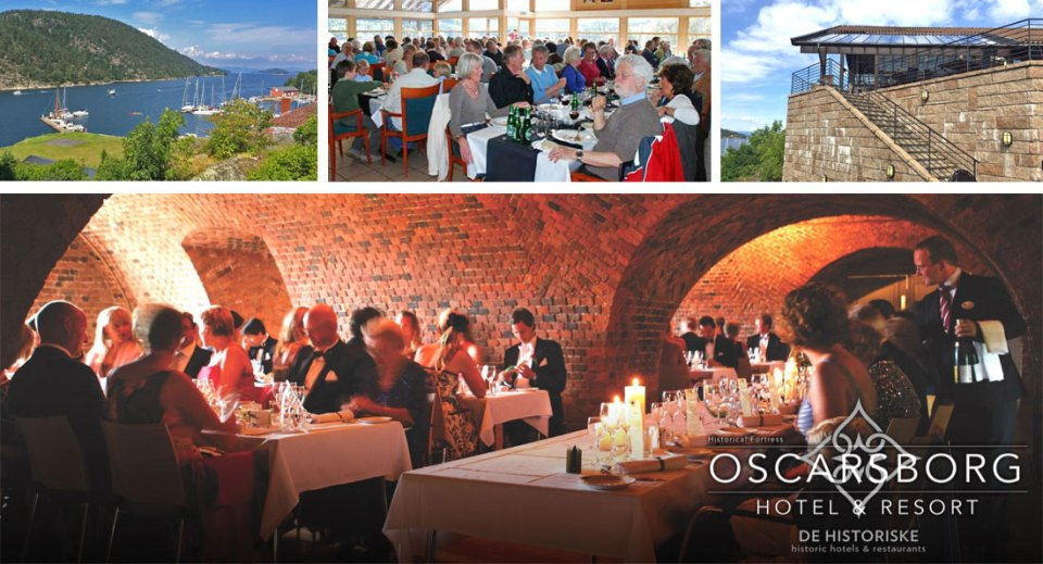 A variety of dining facilities at The Oscarsborg Fortress.