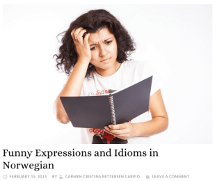 Funny Expressions and Idioms in Norwegian