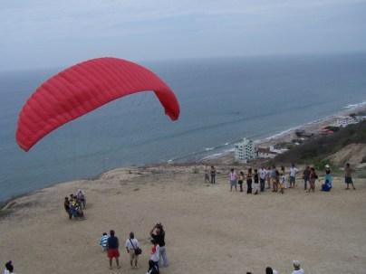 Paragliding. The Sun Route in the Coastal Region of Ecuador © Carmen Cristina Carpio Tobar