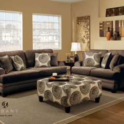 Albany Industries Leather Sofa Yellow Sofas For Sale 8642 Groovy Chocolate Home Furniture