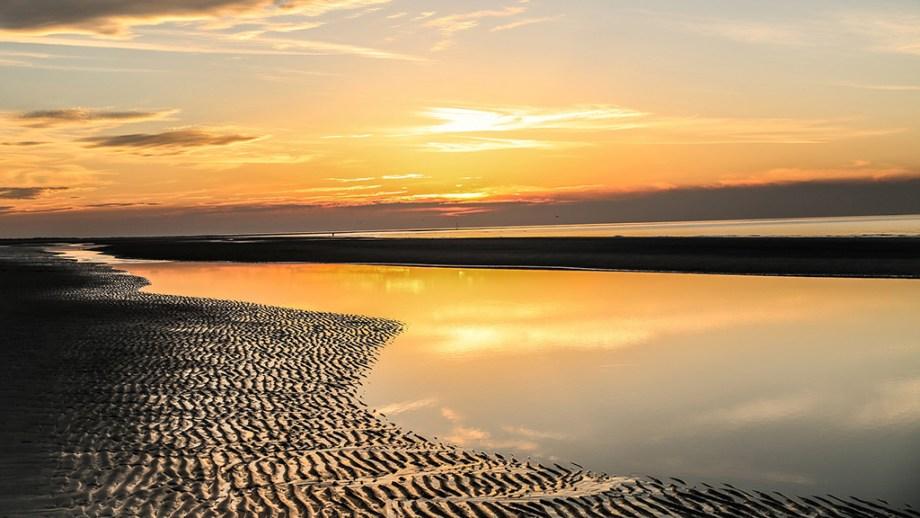 Beach the netherlands sunset