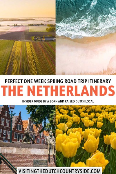 The Netherlands: travel to beautiful places in spring in The Netherlands and Holland on this perfect The Netherlands road trip itinerary. This The Netherlands itinerary can be used as a travel guide and includes the best one week itinerary from Amsterdam. In this The Netherlands itinerary you will find places to visit, things to do and cities and destinations to add on your bucket lists in The Netherlands.