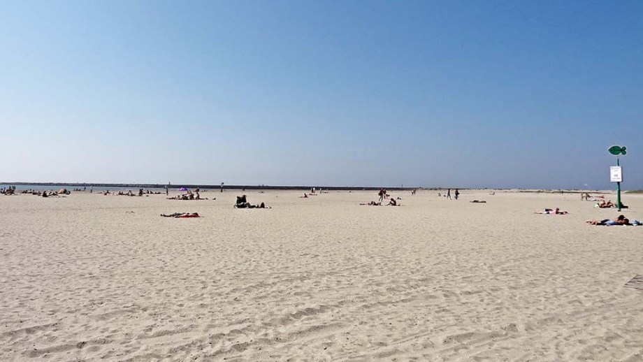 view on Dutch beach at IJmuiden
