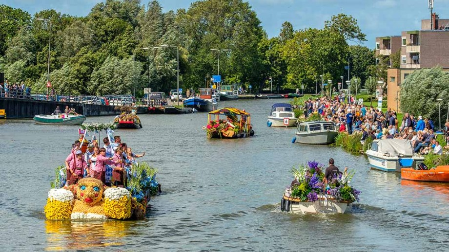 The Westland floating flower parade in Zuid-Holland, The Netherlands, is one of the most popular events in The Netherlands to visit