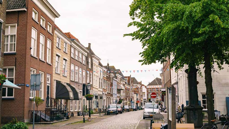 One of the many beautiful streets in Grave, which is an idyllic town in the South of The Netherlands
