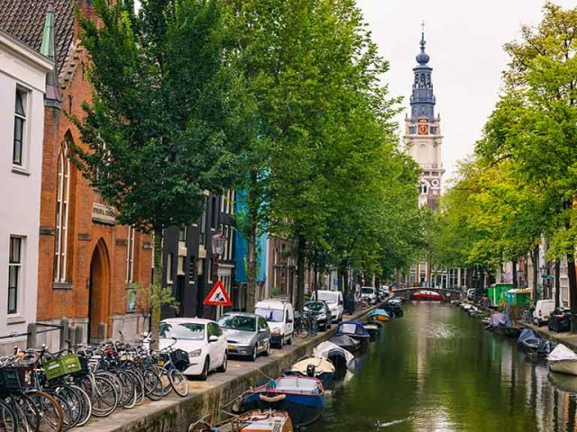 The westertoren of Amsterdam which can be seen from the canals