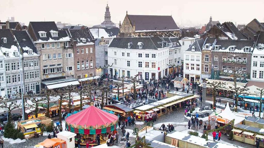 Maastricht Christmas market in Limburg, The Netherlands