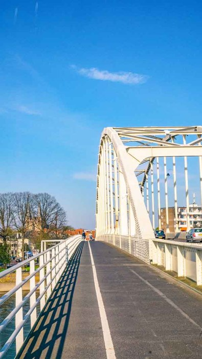 Wilhelminabrug, bridge, in Deventer, Overijssel, The Netherlands