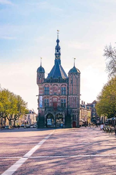 The Waag, weighing building and museum, in Deventer, Overijssel, The Netherlands on Brink square