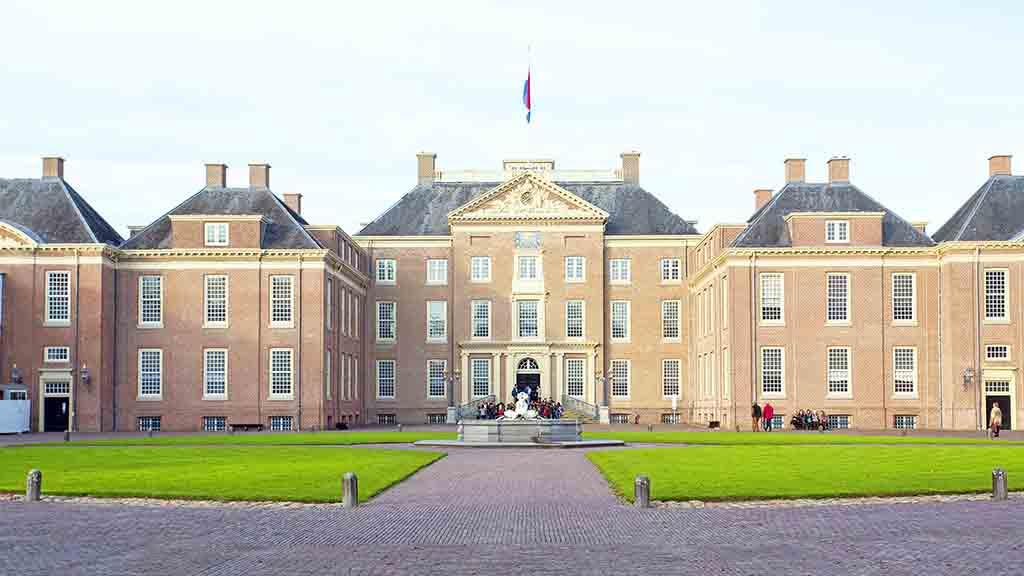 APELDOORN, NETHERLANDS -November 4, 2015: front of Het Loo Palace in Apeldoorn.