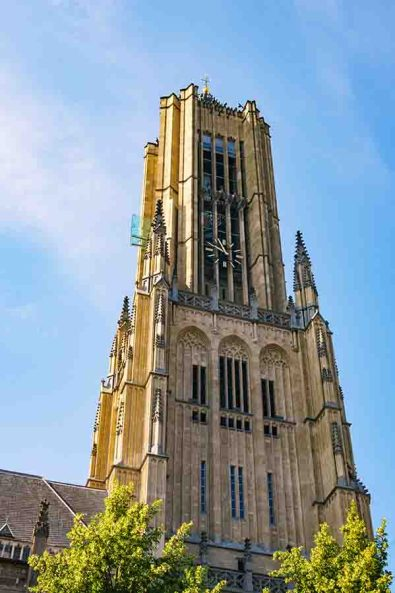 The tower of the St Eusebius church in Arnhem with its glass viewing platform in Gelderland, The Netherlands