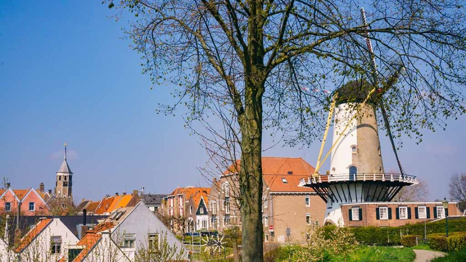 beautiful houses and view on the city of Willemstad (Noord/ North- Brabant), The Netherlands