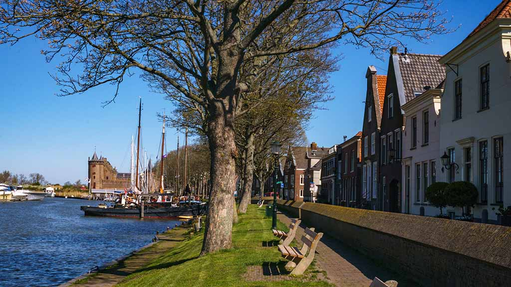amsterdam muiderslot castle in muiden noord north holland netherlands