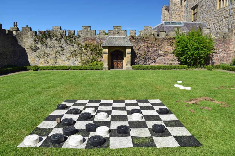 Outside chess at Chirk Castle