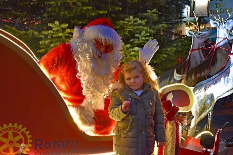 Santa in Oswestry