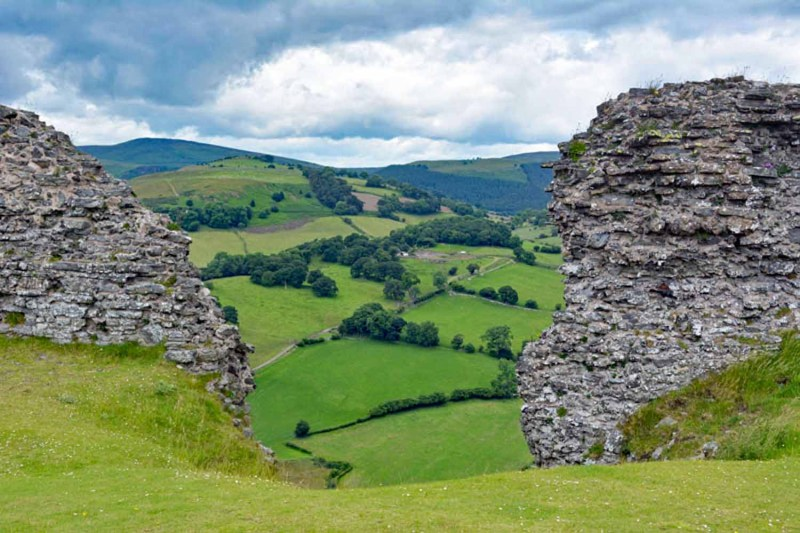 Dinas Bran Llangollen view to the valley