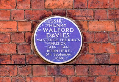 Walford Davies plaque