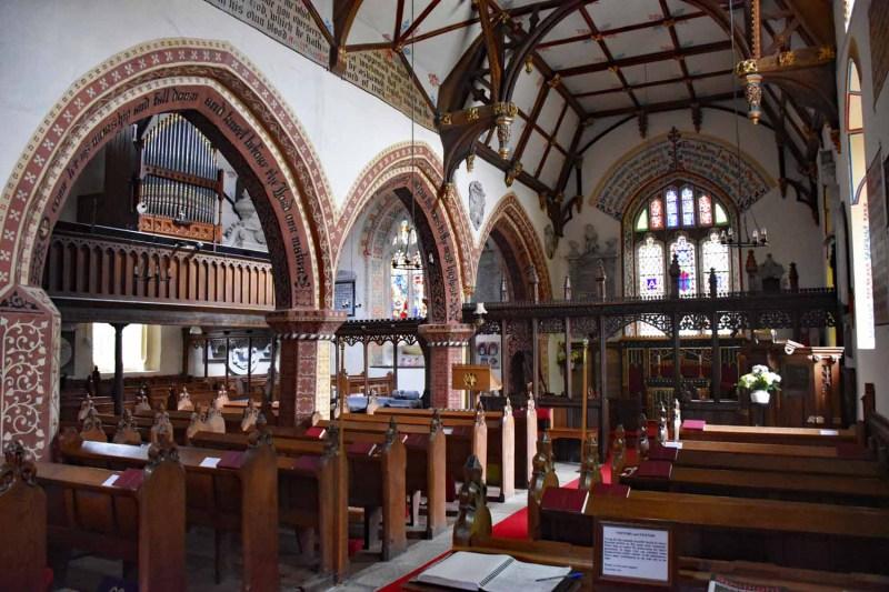 Nave at Llanyblodwel church
