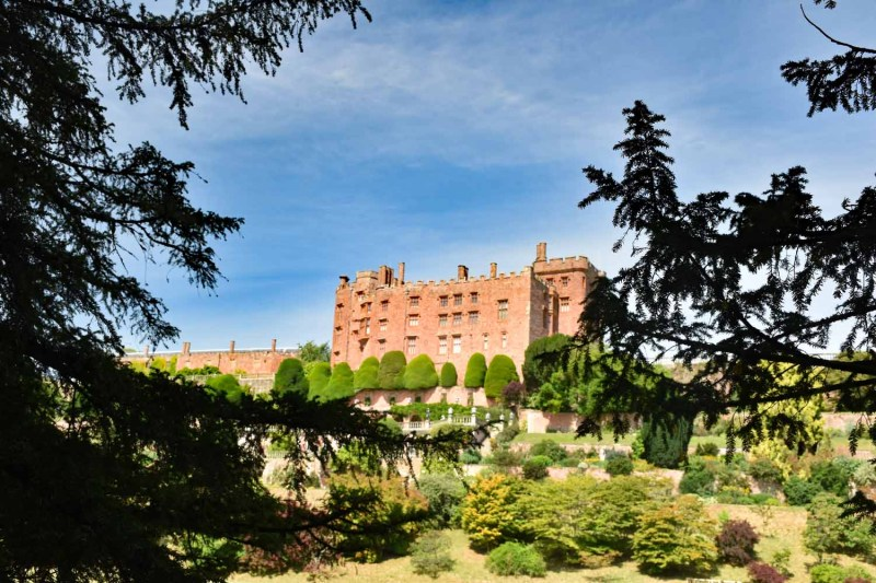 view to Powis Castle