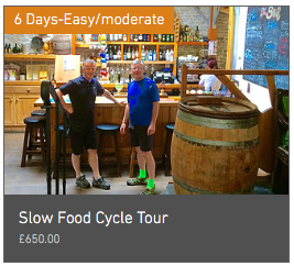 Wheely Wonderful Cycling 6 day cycle tour slow food Cycle Tour