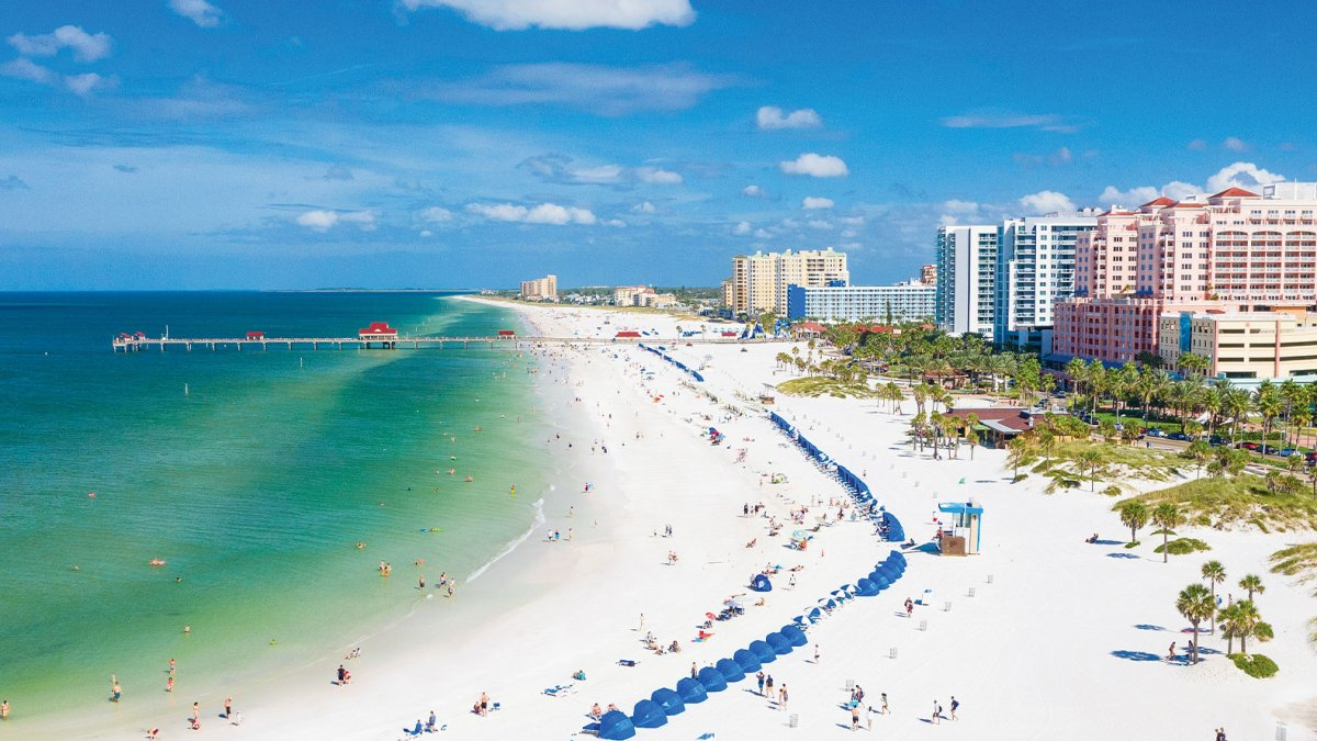 clearwater beach is characterized by white sand beaches stretching for 2.5 miles (4 km) along the gulf and sits on a barrier island. Visit St Pete Clearwater Florida The Official Guide