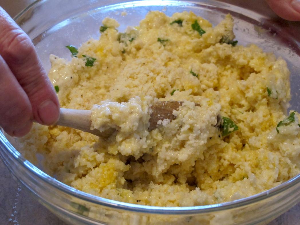 Composto polpette cacio e uova