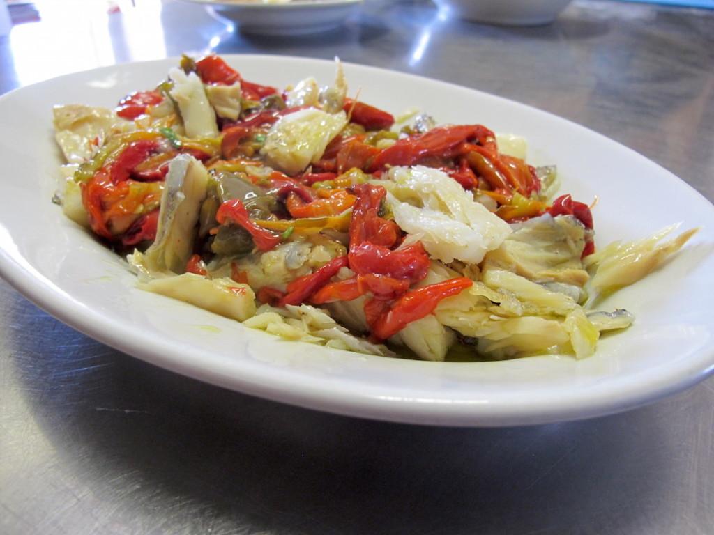 Baccalà e peperoni