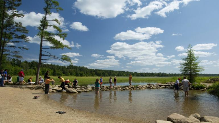 Enjoying the headwaters of the Mississippi River at Itasca State Park
