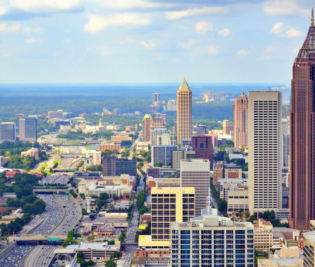 View Of The Downtown Atlanta Skyline