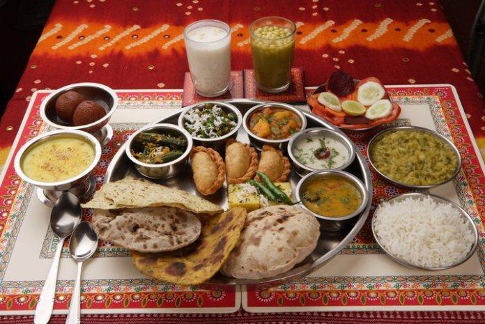 Rajasthan Cuisine at Chokhi Dhani, Jaipur.