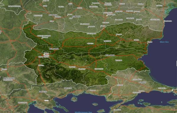 Bulgaria Google Maps Satellite