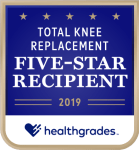 Healthgrades Total Knee Replacement Five-Star Recipient - 2019