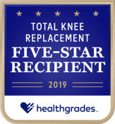 Huntsville Hospital Healthgrades Total Knee Replacement Five-Star Recipient 2019
