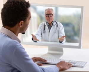 Doctor Seeing a Patient in a Telehealth Visit