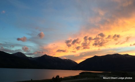 Sunset over Twin Lakes.