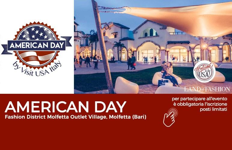 L\'American Day fa tappa al Puglia Outlet Village - Visit Usa Italy