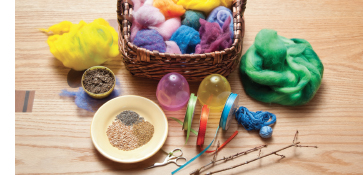 felted egg materials