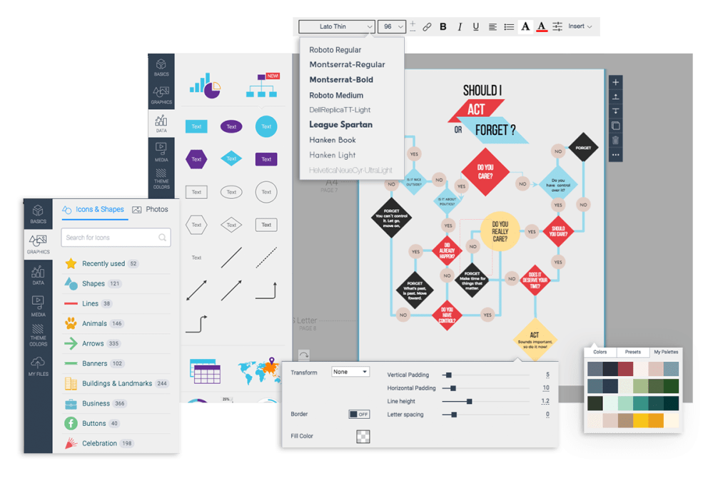 medium resolution of free flowchart maker flow chart creator vismecustomize everything to fit your vision and theme