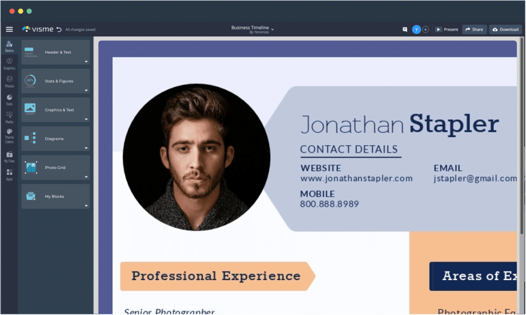 It's a good destination for everyone interested in finding attractive resume templates available for free download. Free Resume Maker Create A Professional Resume Visme