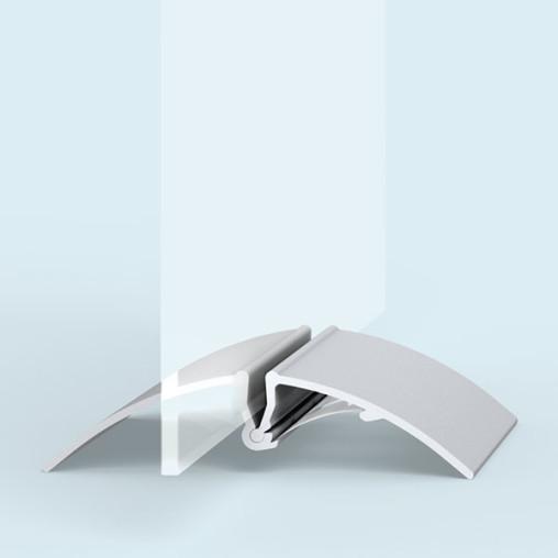 porte panneau t sans avec plaque en verre acrylique
