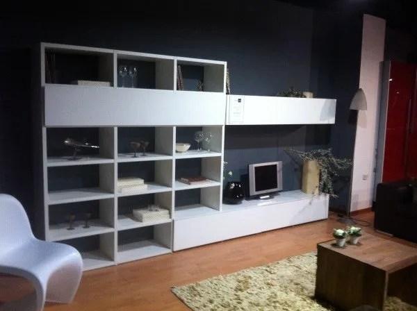 Soggiorno Libreria Bianco Opaco SIL  Vissani Casa