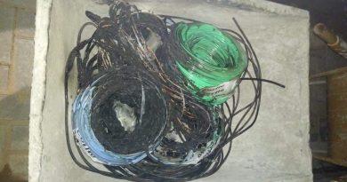 Eletricista que fazia reparos em escola é preso queimando fios de cobre para vender